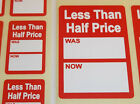 Внешний вид - Bright Red Less Than Half Price Was / Now Point Stickers Swing Tag Sticky Labels