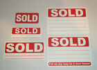 Red - Write On - SOLD Stickers / Swing Tag Sticky Labels - Removable Adhesive