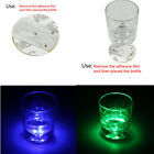 3 LED Flashing Lights Bulb Bottle Cup Mat Coaster For Clubs Bars Party NEW HOA U