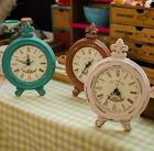 Retro Style Vintage Shabby Wood Table Clock Home Decor Ornament Three Color