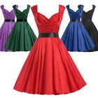 Cheap RED Vintage 60s 50s Swing Pinup Party Evening Dress Plus Size