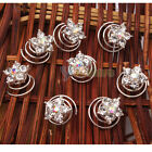 New Fashion 8 x Five-pointed Star Hair Twists Spins Wedding Pins