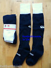 S M L ENGLAND HOME RUGBY SOCKS by CANTERBURY of NZ MIDNIGHT NAVY
