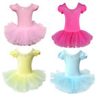 Girls DRESS Leotard Ballet Tutus Gymnastic Dancewear Costume Dress 3-8Y SUIT