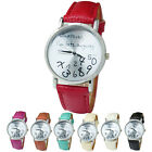 Leather Band Watch Wathever I am Late Anyway Letter Fashion Quartz Wrist Watches