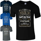 Made in 1961 T-Shirt Born 55th Year Birthday Age Present Vintage Funny Mens Gift
