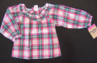 NWT: New OshKosh Pink Green Lawn Long Sleeve Shirt - 9 mos