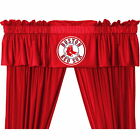 Boston Red Sox Curtains Drapes & Valance with Tie Backs
