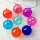 12x 70mm Colored Clear Plastic Fillable Ball Ornaments Great Kid Craft Projects!