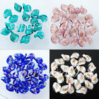 Free shipping Dichroic Glass Leaf Loose Beads for Jewelry Making 20x15MM SBW004