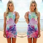 Summer Womens Sleeveless Party Floral Dress Evening Cocktail Casual Mini Dress