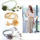 Beauty Flower Waist Hip Thin Belts Korean Waistbend Women Dress Waist Chain - LD