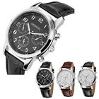 Luxury Men's Business Leather Band Quartz Analog Casual Dress Wrist Watches Gift