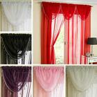 BLING SILVER BRAID & BEADED VOILE SWAGS WHITE RED BLACK PINK CREAM AUBERGINE