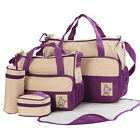 5pcs Excellent Baby Diaper Pad Bags Nappy Changing Tote Handbag Mummy Mother Bag