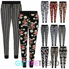 Womens Floral Print Crepe Tapered Trousers Ladies Loose Fit Taper Pants 8-14