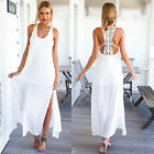 Summer Beach Sexy Women Long Chiffon Dress Crochet Lace Maxi Sundress Boho Party