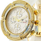 Mens Diamond Watch Aqua Master El Russo 5.35 ct Iced Out Yellow Gold Rubber