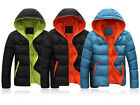 Men Winter Casual Slim Jacket Cotton Thick Coat Hooded Parka Warm Down Outwears