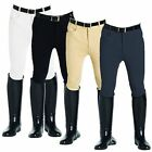 GENTS EQUESTRIAN COTTON JUMPING CASUAL KNEE PATCH BREECHES ALL SIZES & COLOURS