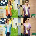 New Ladies Blouse Gradient Long Sleeve Slim Sexy Shawl Knit Casual Jacket Coat