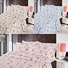 FLORAL BEDSPREAD THROW EMBROIDERED IVY SINGLE DOUBLE KING BLUE ROSE PINK NATURAL