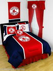 Boston Red Sox Comforter Sham & Sheet Set Twin Full Queen King