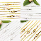 Lots 2/10Pcs Necklace 43cm Gold/Silver Plated Flat Chain Clasp Jewelry Making