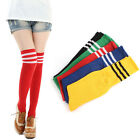 Ladies Mens Top 3 THIGH HIGH SOCKS Over Knee Girls Womens Cheerleader Stockings
