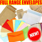 DL C4 C5 C6 PAPER ENVELOPES PLAIN & WINDOW WHITE & MANILLA SELF SEAL & GUMMED