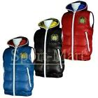 Mens Fly Guy Rolls Badge Full Zip Hooded Quilted Padded Gilet Jacket Mens Size
