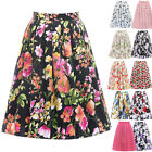 Summer Vintage Rockabilly 50s 60s Floral Skirt Housewife Party Casual Tea Dress