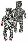 Girls Animal Onesie New Kids Soft Microfleece Printed Onesie Ages 7-13 Years