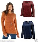 Plus size 8-36 UK ladies womans boyfriend sparkle shimmer glitter jumper sweater