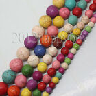 Natural Round Mixed Turquoise Gemstone Spacer Loose Beads Charm Findings 4-10mm
