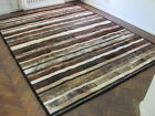 NEW COWHIDE PATCHWORK RUG LEATHER CARPET cu_496