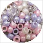 Mixed Pony Beads, 50, 100, 200, or 300, Hair Braiding, Dummy Clips, Frozen