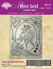 PERGAMANO UK Mini Grid 19 Perforating Parchment 71019 Flower Label ROSE Hearts