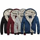 Winter New Men's Casual Simple Sweats Fashion Cardigan Trend Coats Hoodie Jacket