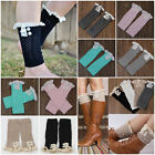 Fashion Womens Crochet Knit Lace Trim Leg Warmers Toppers Boots Cuffs Socks Long
