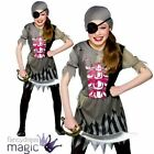 NEW GIRLS ZOMBIE PIRATE HALLOWEEN PARTY OUTFIT DRESS UP GIRL FANCY DRESS COSTUME