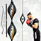 RDX Leather Double End Dodge Speed Ball MMA Boxing Floor to Ceiling Punch Bag MW