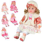 "14"" SITTING DOLL KIDS GIRLS FUN GIFT PLASTIC HAT JACKET XMAS TOY REALISTIC NEW"