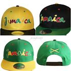 Jamaica snapback caps, rasta peace lion flat peak fitted hats, baseball mens