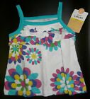NWT: New Carter's Blue & Pink Flower Summer Shirt, 12 mo, 18 mo, 3T or 4T