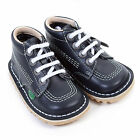Kickers Infants Kick Hi Leather Lace Up Boot Navy / White
