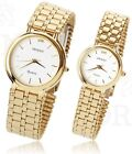 Genuine ORIENT Gold Plated Men Women Luxury Dress Stainles Steel Band watch