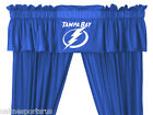 Tampa Bay Lightning Drapes Curtains & Valance Set with Tie Backs