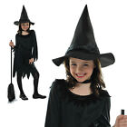 Girls Lil Witch Childrens New Kids Halloween Party Fancy Dress Costume Outfit