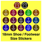 Shoe Size Stickers Euro + Real / Genuine Leather Labels Slippers Boots etc
